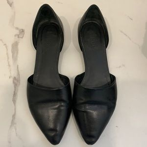 Vince Black Leather Mules Size 7